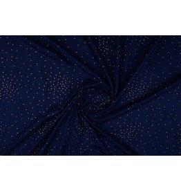 Wildleder Gold Drop Marineblau