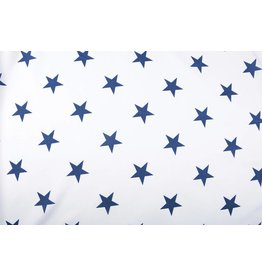 Leinenoptik Viskose Bedruckt Sterne Blau