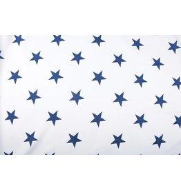 Linenlook Viscose Printed Stars Blue