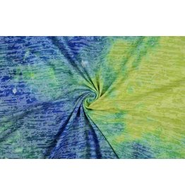 Jersey Wena Tie and Dye Blue-green