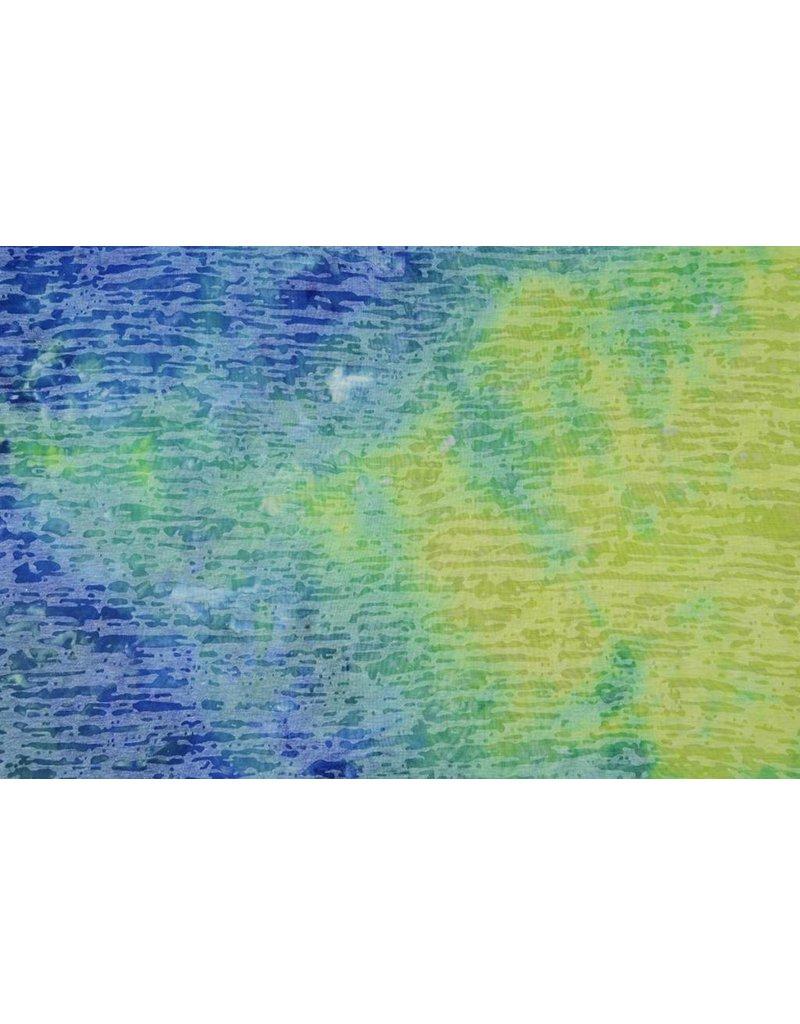 Jersey Tie and Dye Wena Blauw-groen