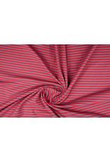 Baumwolljersey Streifen Multi Rot