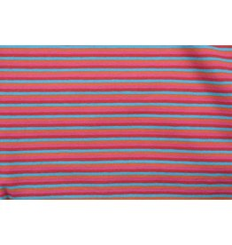 Cotton Jersey Stripe Multi Red