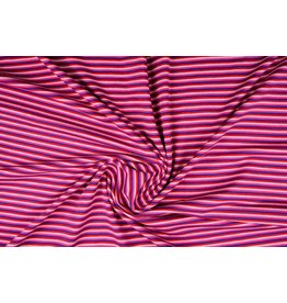 Cotton Jersey Stripe Multi Pink
