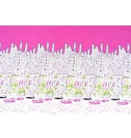 Double edge Cotton City Paris Pink