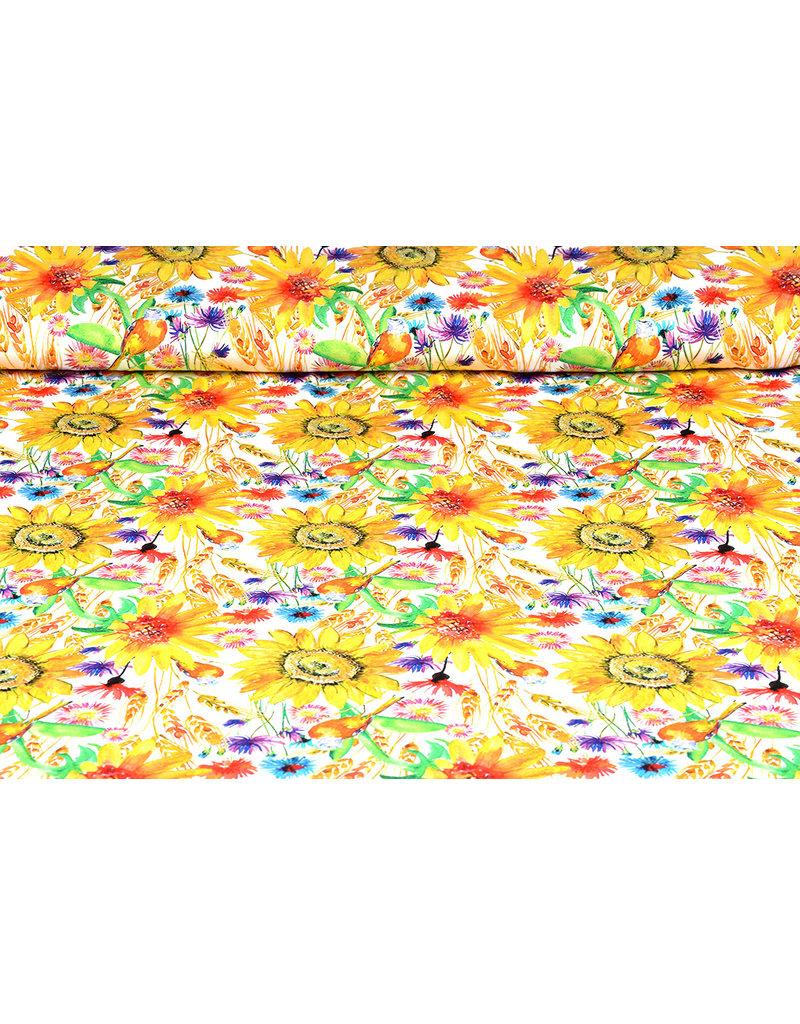 Viskose Jersey Digital Sonnenblume Sommerfeld