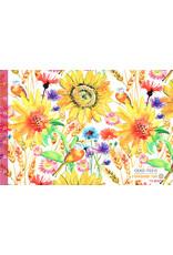 Viscose Jersey Digital Sunflower Summer field