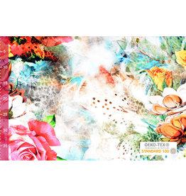 Viscose Jersey Digital  Panther Rose Fuchsia