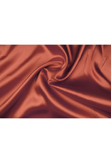 Polyester-Satin Rost Brique