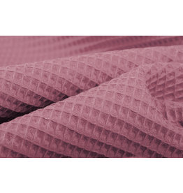 Waffle Pique Fabric Dark Old pink