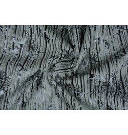 Gestreept Nep Bont-Foil Grijs