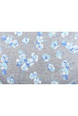 Cotton Jersey violets Grey Melange