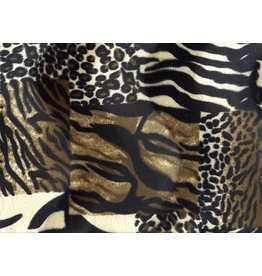 Velboa Patchwork Animalprint