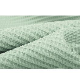 Oeko-Tex®  Waffelpiqué Baumwolle Alt-Minzgrün
