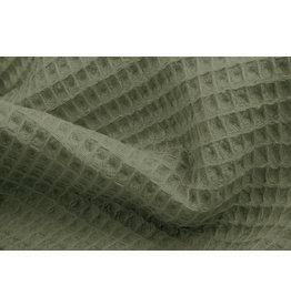 Oeko-Tex®  Waffelpiqué Baumwolle Helles Armeegrün
