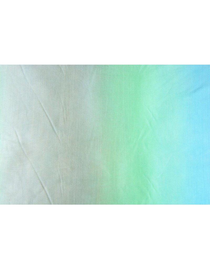 Crinkle Taft Mix Blauw Groen