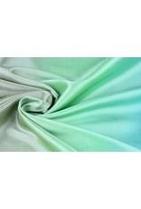 Crinkle Taft Mix Blau Grün