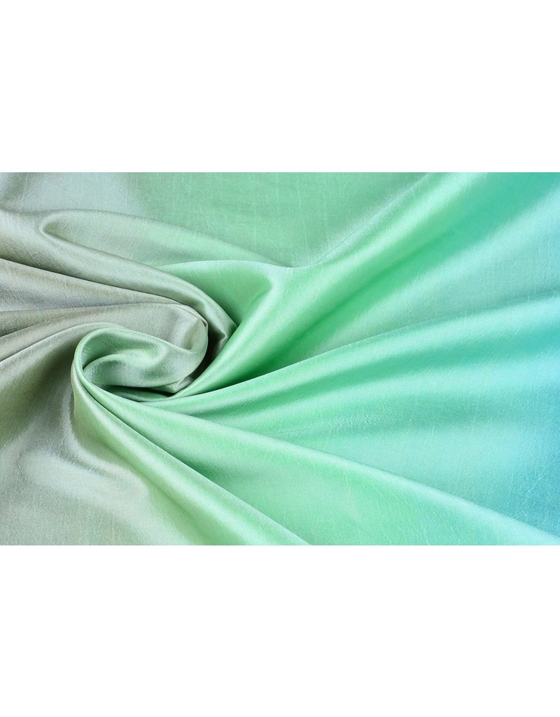 Crinkle Taft Mix Blue Green