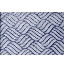 Coral Fleece Geflochten Marineblau