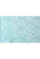 Coral Fleece Gevlochten Mint Groen
