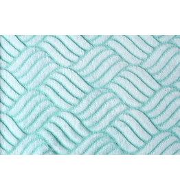 0,50 Meter Fleece Minky-Fleece Kinderstoff aqua // altgrün