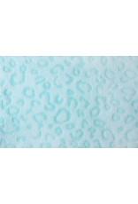 Coral Fleece Panterprint Mint Groen