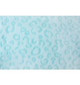 Coral Fleece Panter print Mint Green