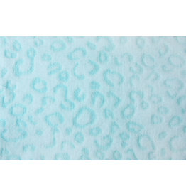 Coral Fleece Panterprint Mint Groen