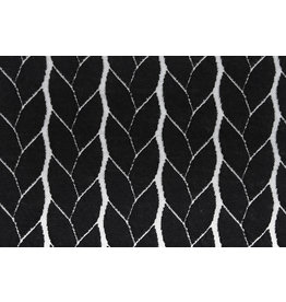 Knitted Cable Fabric Tricot Black