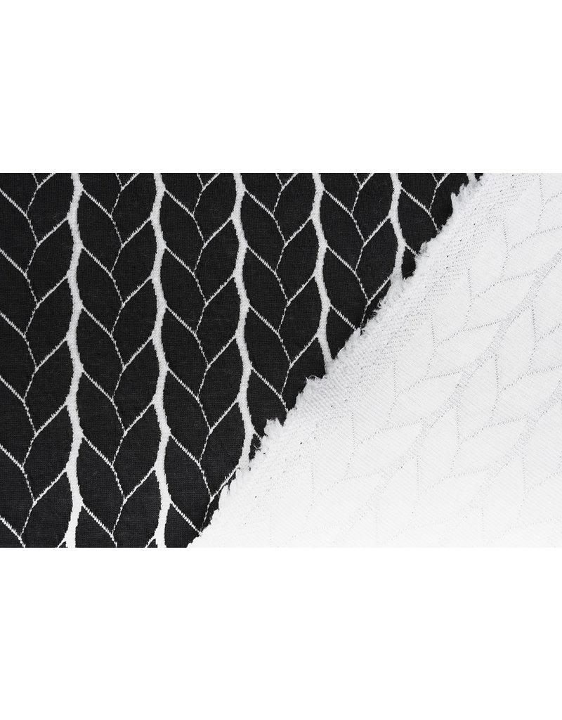 Multi Color Gebreide kabel stof tricot Zwart