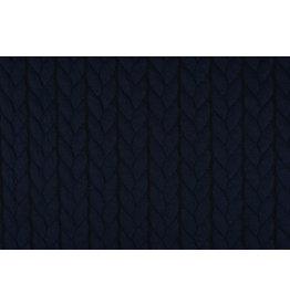 Multi Color Gebreide kabel stof tricot Marine