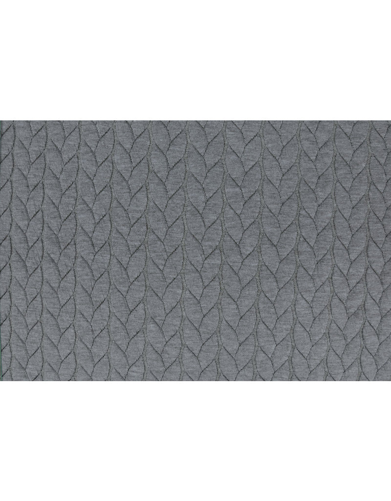 Multi Color Gebreide kabel stof tricot Licht Grijs
