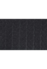 Multi Color Knitted Cable fabric tricot Dark Grey