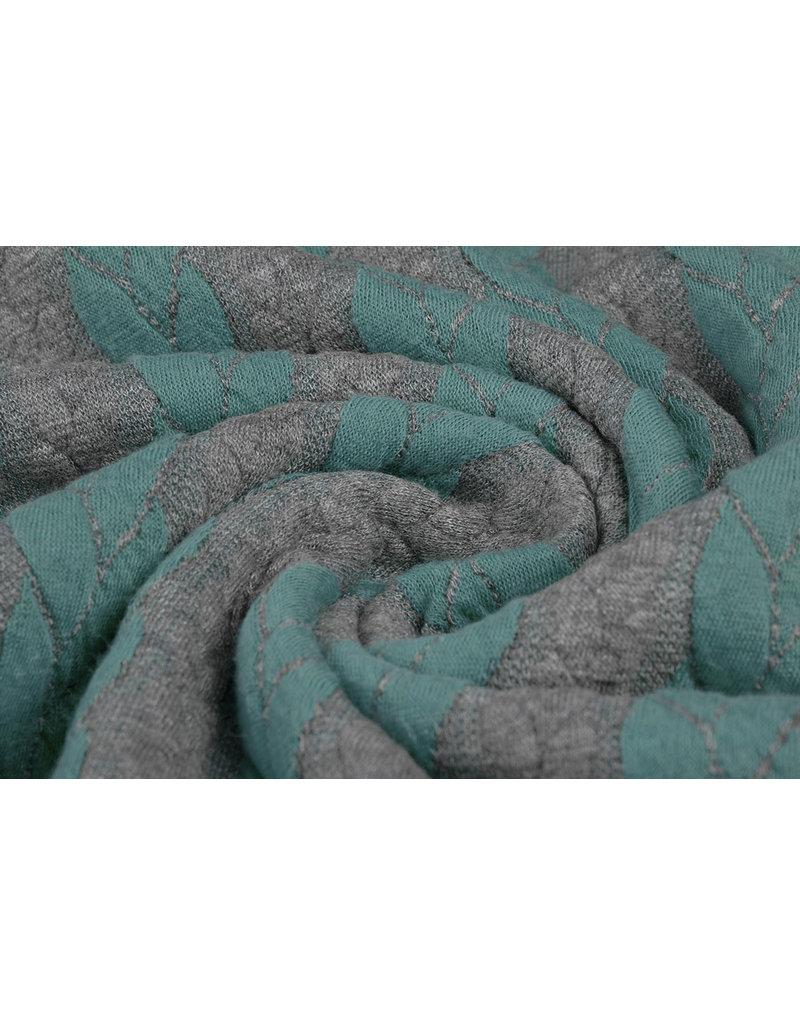 Multi Color Gebreide kabel stof tricot Mint Grijs