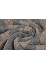 Multi Color Gebreide kabel stof tricot Grijs Poeder Roze