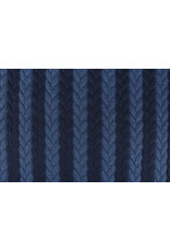 Multicolor Strickstoff Zopfmuster Jersey Marineblau Jeans