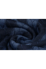 Multi Color Knitted Cable fabric tricot Navy Jeans