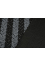 Multi Color Gebreide kabel stof tricot Grijs Zwart