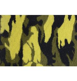 Gestrickter Wollstoff Tarnmotiv Gelb