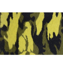 Knitted Woolen fabric Army Yellow