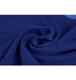 Rib Stof Corduroy Kobalt Blauw