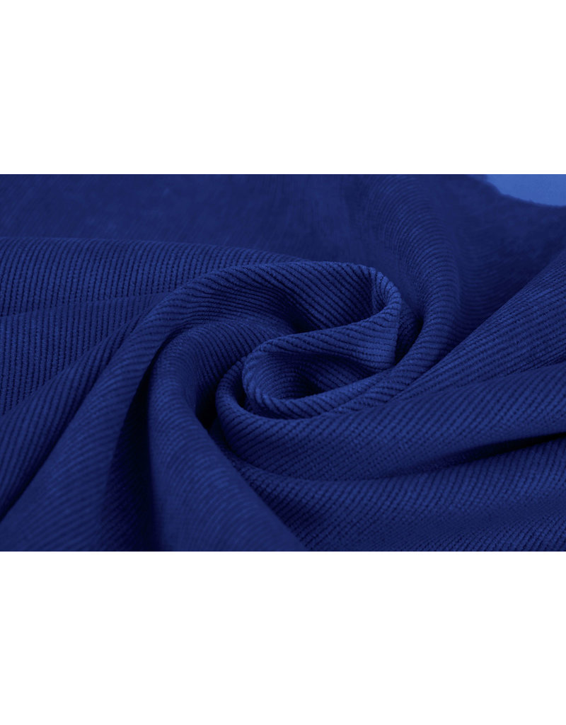 Rib Fabric 16 W Corduroy Cobalt Blue