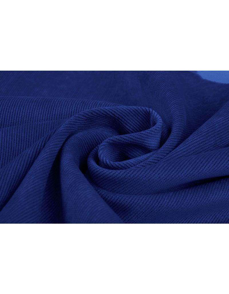 Rib Stof 16 W Corduroy Kobalt Blauw