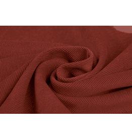 Rib Fabric Corduroy Brique