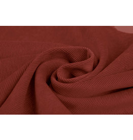 Rib Fabric Corduroy Red Brique