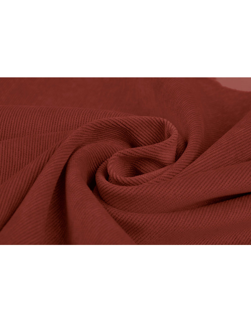 Rib Fabric 16 W Corduroy Red Brique