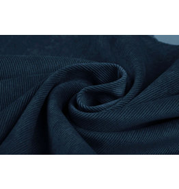 Rib Fabric Corduroy Dark Petrol