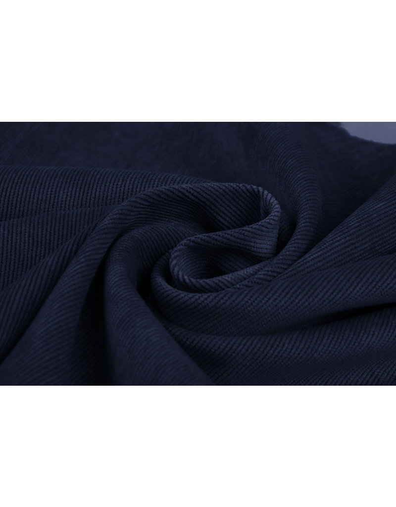 Cordstoff Marineblau