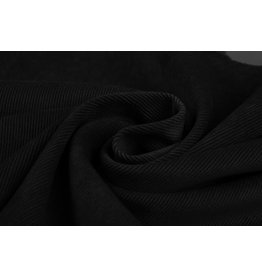 Rib Fabric Corduroy Black