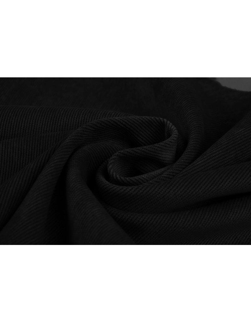 Rib Fabric 16 W Corduroy Black